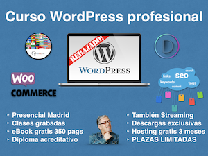 Curso WordPress profesional en Madrid certificado